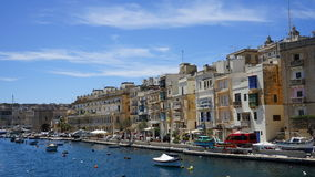 Three cities. Malta. The residental houses on the Senglea. Three cities. Malta Royalty Free Stock Image