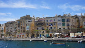 Three cities. Malta. The residental houses on the Senglea. Three cities. Malta Stock Images
