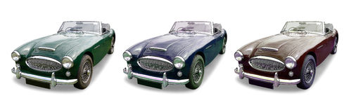 Three classic MG Sports cars Royalty Free Stock Photos