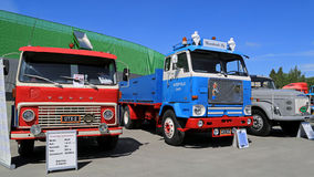 Three Classic Volvo Trucks from 60s and 70s Stock Photos