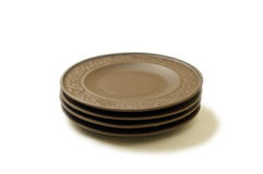 Three clay plates Royalty Free Stock Image