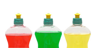 Three cleaning chemical bottles Stock Photography