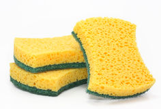 Three cleaning sponges Royalty Free Stock Photography