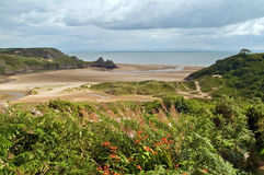 Three Cliff Bay, Gower Royalty Free Stock Image