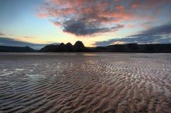 Three Cliffs Bay 2. Three Cliffs Bay Swansea UK Seascape Beach Sand Royalty Free Stock Photography