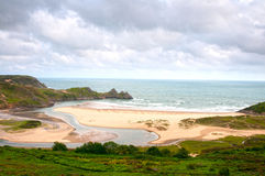 Three Cliffs Bay Royalty Free Stock Images