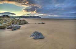 Three Cliffs Bay 3. Three Cliffs Bay Swansea UK Seascape Beach Sand Stock Photo
