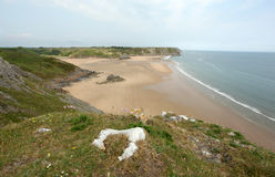 Three Cliffs Bay on Gower Coast Royalty Free Stock Photos