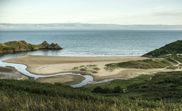 Three Cliffs Bay Royalty Free Stock Photos