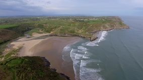 Three Cliffs Bay South Wales stock video