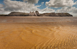 Three Cliffs Bay Swansea Stock Photos