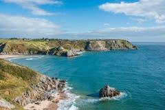 Three Cliffs Bay View Stock Photos