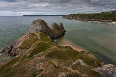 Three Cliffs Gower Stock Images