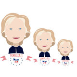Three Clinton on a white Royalty Free Stock Images