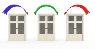 Three closed doors Royalty Free Stock Photography
