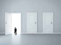 Three closed doors Stock Photos