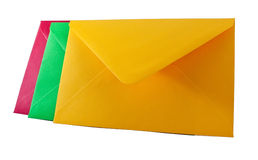 Three closed envelopes Royalty Free Stock Photo