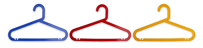 Three Cloth Hanger Royalty Free Stock Photos