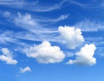 Three clouds royalty free stock image