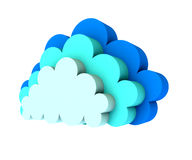 Three clouds Stock Images