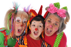 Three clowns Royalty Free Stock Image