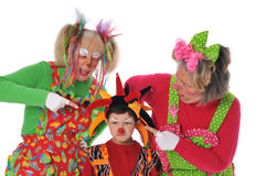Three clowns Stock Photography