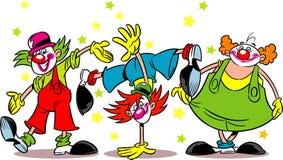 Three clowns Stock Image