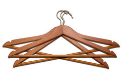Three coat hangers Royalty Free Stock Images
