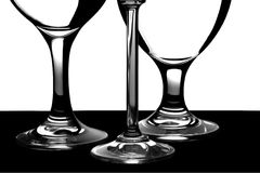Three cocktail glasses Stock Image