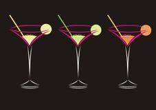 Three Cocktails Stock Photo