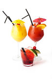 Three cocktails Stock Photography