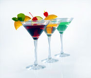 Three cocktails Royalty Free Stock Photography