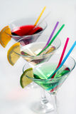 Three cocktails stock images