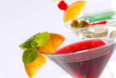 Three cocktails Royalty Free Stock Photo