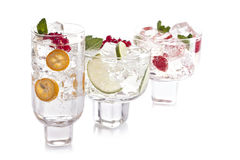 Three cocktails. Three coctals on a white background Stock Image