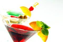 Three cocktails Stock Image