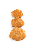 Three coconut cookies Stock Image
