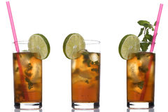 Three coctail with mint Royalty Free Stock Photo