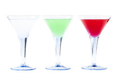 Three Coctails Stock Photography