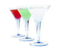 Three Coctails Royalty Free Stock Photo