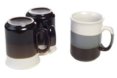 Three Coffee Cups Stock Photos