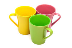Three coffee cups Royalty Free Stock Images