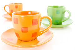Three coffee cups Royalty Free Stock Photo