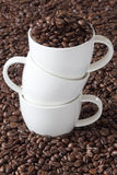 Three Coffee Cups stacked Stock Images