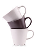 Three coffee cups stacked together Stock Images