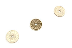 Three coins DKK Royalty Free Stock Photography