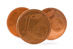 Three coins of one euro cent Royalty Free Stock Photography