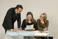 Three Colleagues Royalty Free Stock Photo