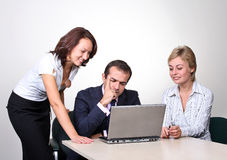 Three colleagues  Stock Images