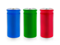 Three color battery Stock Images